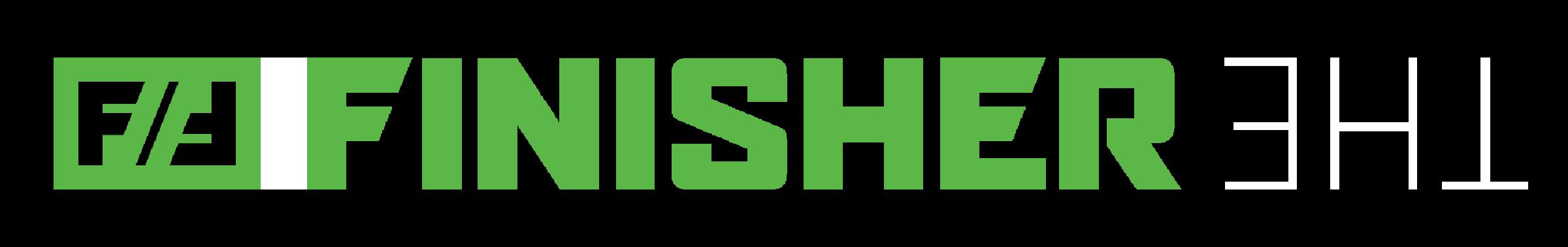 The Finisher Icon & Logo Horizontal - WHITE