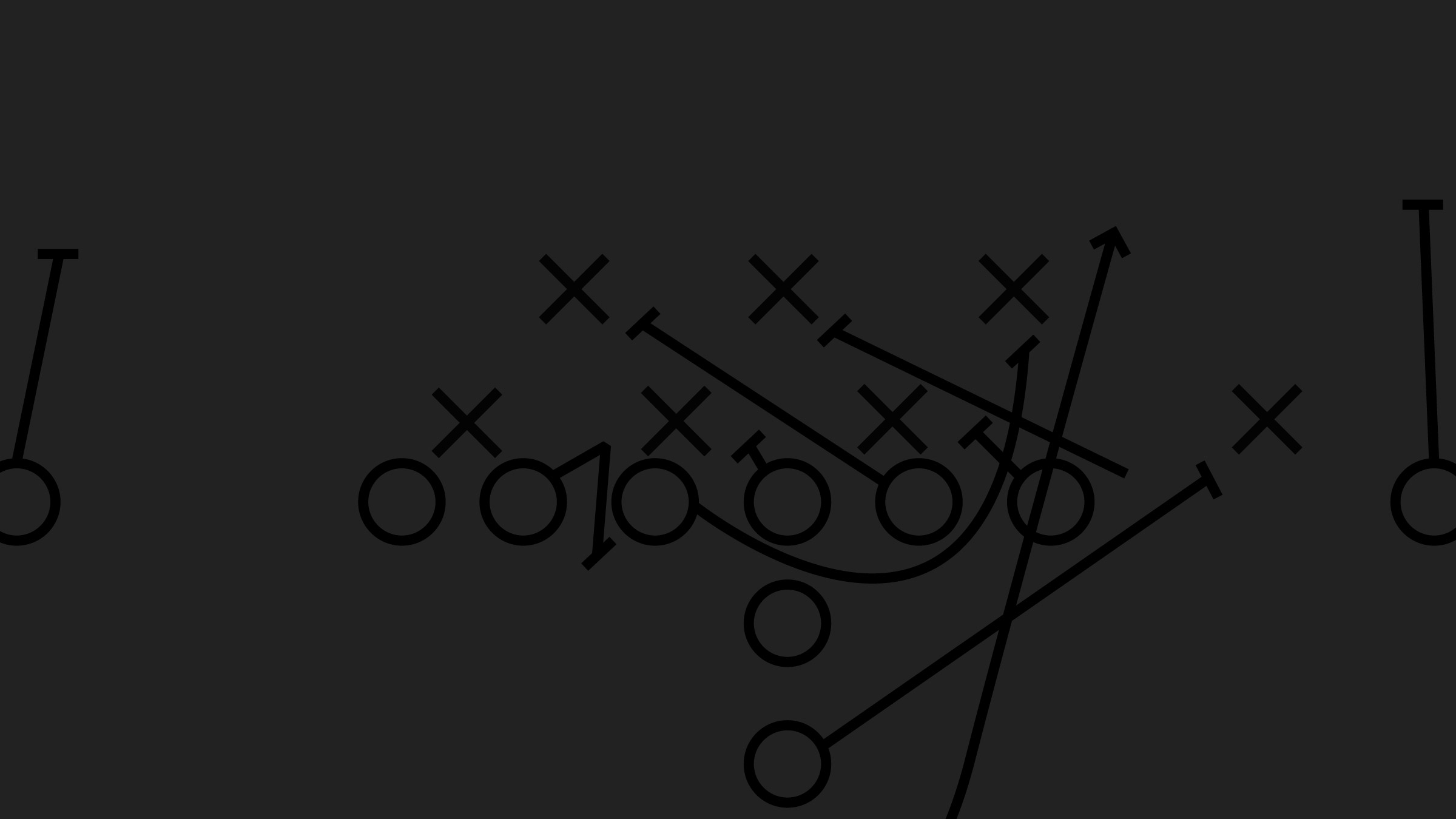 Football Play Line Drawing
