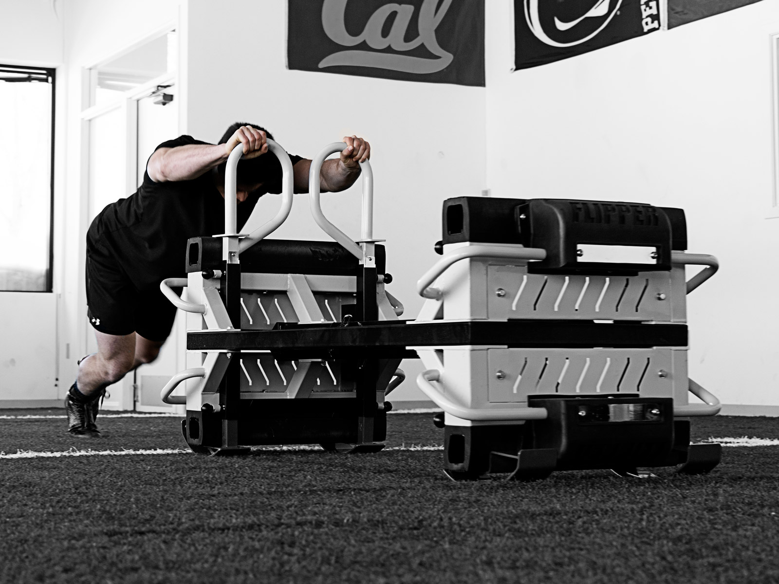 Man Pushing The Finisher as a Sled