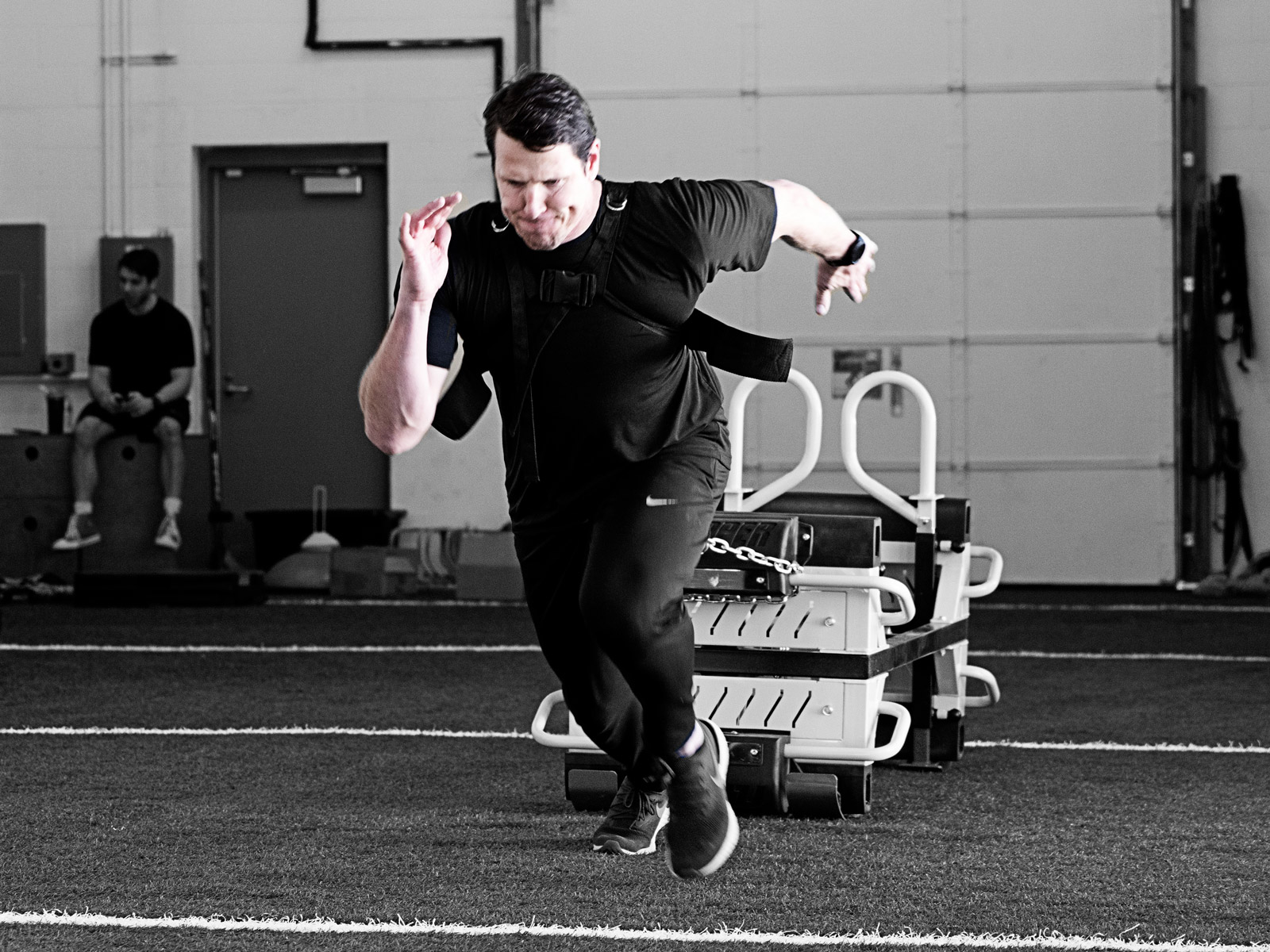 Man Pulling The Finisher for Speed Training